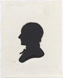 Using one of the museum's attractions, a physiognotrace, African American artist Moses Williams created this silhouette of Charles Willson Peale. (Philadelphia Museum of Art)