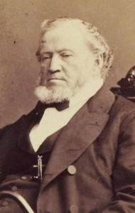 A photographic portrait of Brigham Young.