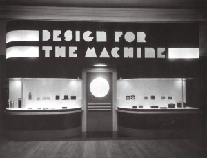 A view of the Design for the Machine: Contemporary Industrial Art, at the Philadelphia Museum of Art in 1932.