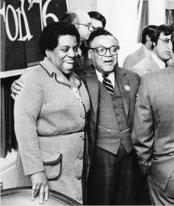 a black and white photograph of William Thaddeus Coleman Jr and Dr. Ethel D. Allen