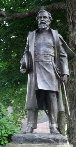 A statue of Thomas L. Kane, a prominent Philadelphia lawyer.