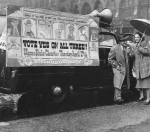 Philadelphia was run by a powerful Republican Party for nearly 70 years, in part due to its weak charter which allowed patronage for public office. A new Home Rule Charter was approved by voters in 1951 with the promotion and support of the Greater Philadelphia Movement. Special Collections Research Center, Temple University Libraries)