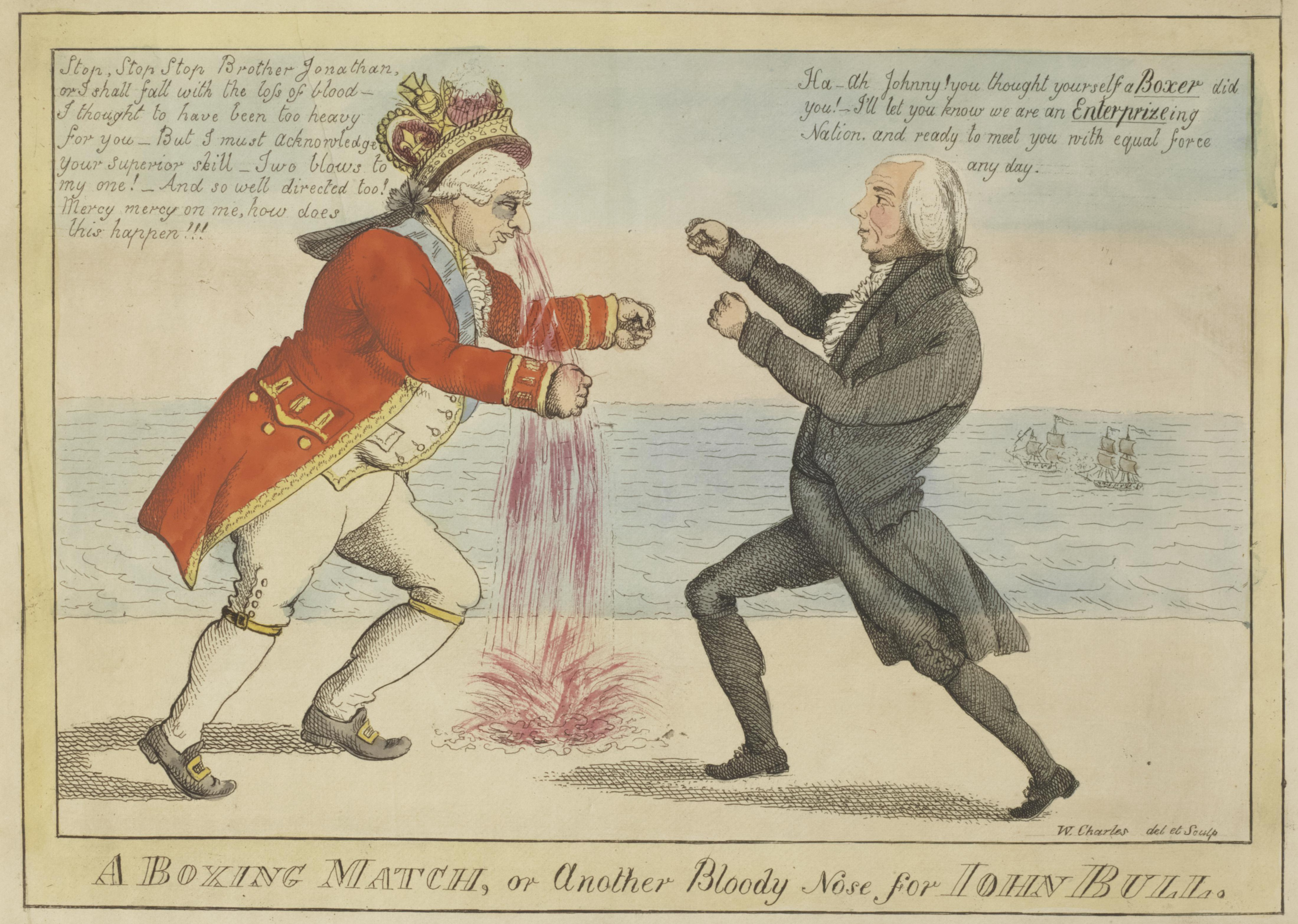 William Charles A Boxing Match Or Another Bloody Nose For John