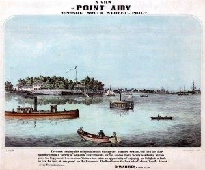 An advertisement for the Point Airy Hotel, a resort on the southern end of Windmill Island.
