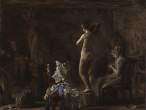 Eakins notoriously emphasized the study of the nude during his first year of teaching at the Pennsylvania Academy of the Fine Arts. (Philadelphia Museum of Art)