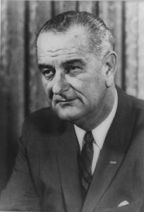 Photograph of President Lyndon B. Johnson.