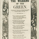 "Scan of a ballad sheet titled ""The Wearing of the Green."""