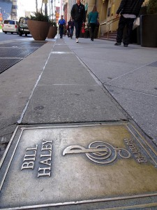 A color photograph of Bill Haley's plaque on the Philadelphia Music Alliance's Walk of Fame.