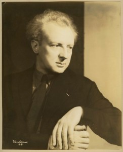Photograph of Leopold Stokowski, the first winner of the Philadelphia Award and conductor of the Philadelphia Orchestra.