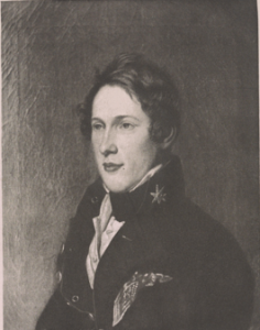 A black and white portrait of Titian Ramsay Peale