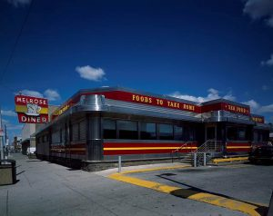 A photograph of the Melrose Diner on 1501 Snyder Avenue.