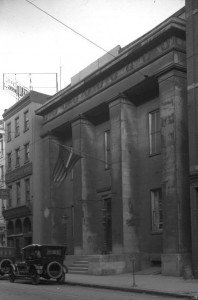 Photograph of the former home of the Franklin Institute, which became the Philadelphia History Museum after the Franklin Institute left in 1934.