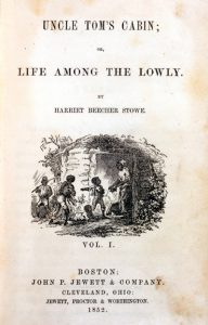 A photograph of the cover of Harriet Beecher Stowe's