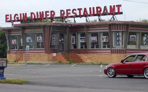 Color photo of the Elgin Diner, Camden, NJ,