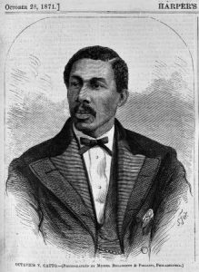 a black and white image of Octavius Catto