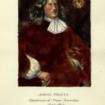 A color portrait of Johan Printz