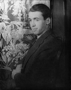 A black and white photograph of James (Jimmy) Stewart