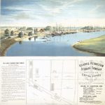 Color lithograph showing Schuykill river and banks.