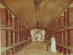 A drawing of the inside of the High Street Market