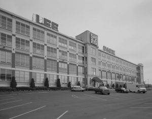 Photograph of the Lee Tire and Rubber Company's main building in Conshohocken, Pa.