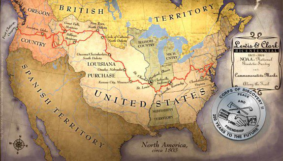 map of the lewis and clark expedition