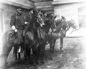 The Philadelphia Police Mounted Patrol Unit from 1908.
