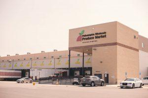 The loading docks of the Philadelphia Wholesale Produce Market