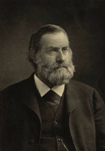 A black and white photograph of Joseph Leidy
