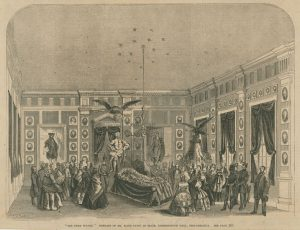 The funeral of Elisha Kent Kane at Independence Hall
