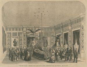 The funeral of Elisha Kent Kane at Independence Hall