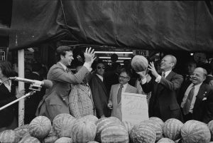 President Ford visiting the Italian Market in 1972.
