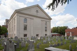 The graveyard at the former church, Old Saint Pauls