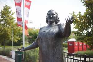 Statue of Kate Smith outside Xfinity Live complex