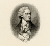 A black and white engraving of William Bingham in profile