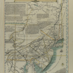 A map of Eastern Pennsylvania and New Jersey  with notes about weather and tide patterns