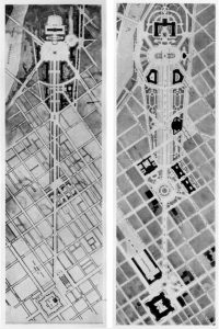 Side by side comparison of two designs for the Fairmount Parkway.