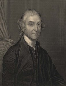 Illustrated portrait of Joseph Priestley.