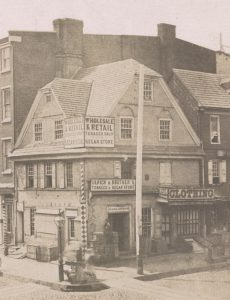 A mid nineteenth century photograph of The Old London Coffee House.