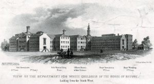 A Drwaing of the Department for White Children of the House of Refuge in 1858.