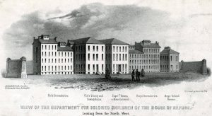 Drawing of the Department for Colored Children of the House of Refuge, 1858