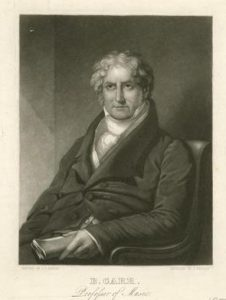An engraving of Benjamin Carr, completed sometime in the nineteenth century.