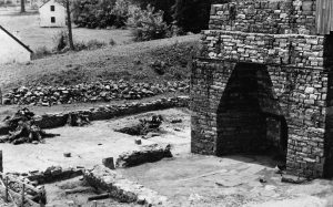 At Hopewell Furnace National Historic Site in Chester County, Pennsylvania, the remains of an iron furnace call attention to the region's history in iron production. (Library of Congress)