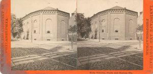 a black and white stereoscopic image of Holy Trinity Church