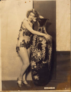 A black and white publicity photo of Gypsy Rose Lee from Minsky's Burlesque