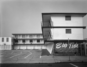 "Photograph of the First ""Doo Wop"" Style Motel in Wildwood New Jersey the Ebb Tide."