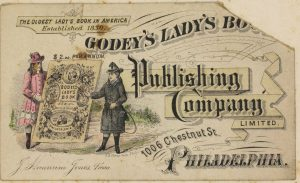 A Trade Card advertising the Godey's Lady's Book