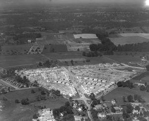 Aerial View of the Hollywood Housing Development Under Construction in 1928.