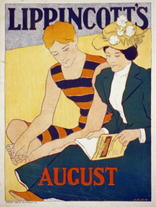 A Lippincott's Magazine cover from August