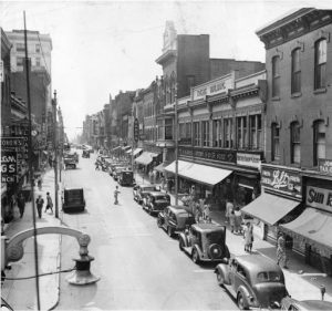 Market Street in Chester Pennsylvania in 1942