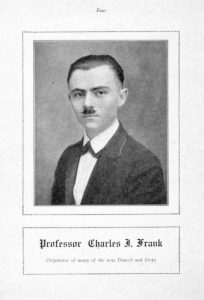 a black and white portrait photograph of Charles J. Frank from his book of dance instructions